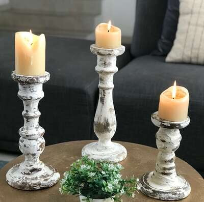 Set of 3 Original Authentic Candle holders