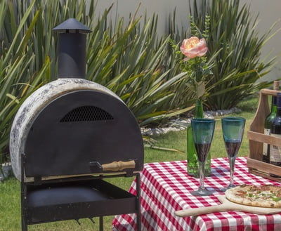 Wood Fired Clay Pizza Oven Gray